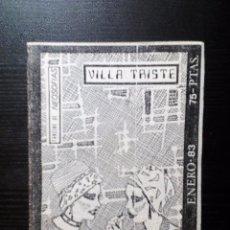 Revistas de música: VILLA TRISTE FANZINE ORIGINAL Nº 1 1983 J. L. FDZ. ABEL (ALPHAVILLE) EL AVIADOR DRO, JOAN SORIANO. Lote 97276063