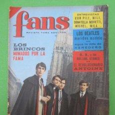 Revistas de música: REVISTA FANS N.52 , LOS BRINCO , LOS BEATLES , ROLLING STONES, DOCTOR TERROR , PILI MILI , 1966. Lote 97306903