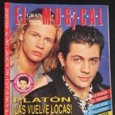 Revistas de música: REVISTA EL GRAN MUSICAL Nº 382 DE 1993 PLATON DEPECHE MODE EL ULTIMO DE LA FILA. Lote 97499139