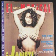 Revistas de música: REVISTA EL GRAN MUSICAL Nº 397 DE 1993 JANET JACKSON THE CURE SINIESTRO TOTAL NIRVANA. Lote 97501375
