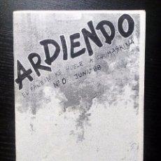 Revistas de música: ARDIENDO. Nº 0. 1988. FANZINE ORIGINAL NOTICIAS ROCK RADIKAL VASCO, CONTACTOS GRUPOS, POSTER. Lote 97672775