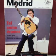 Revistas de música: PAUL MCCARTNEY - BEATLES - REVISTA GUIA DE MADRID- ABC - 246 - 28 MAYO A 3 JUNIO 2004- EXCELENTE. Lote 98215959