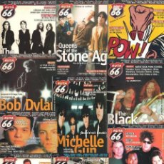 Revistas de música: REVISTA RUTA 66 - AÑO 2001 COMPLETO. 11 NÚMEROS (168 AL 178). Lote 55001308