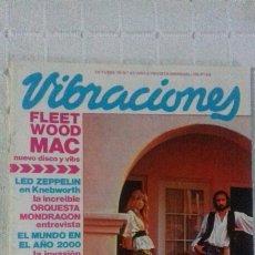 Revistas de música: REVISTA VIBRACIONES N° 61 MAGAZINE FLEETWOOD MAC LED ZEPPELIN TEQUILA DEVO VAN HALEN MONDRAGON. Lote 98418824