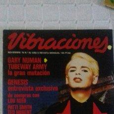 Revistas de música: REVISTA VIBRACIONES N° 62 MAGAZINE GARY NUMAN GENESIS LOU REED RAMONES PATTI SMIT TED NUGENT TALKING. Lote 98419048