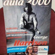 Revistas de música: GEORGE HARRISON -BEATLES - REVISTA AULA 2000 - SOLO PARA UNIVERSIDADES - 17 DICIEMBRE 2001 - 14 PAG. Lote 98498359
