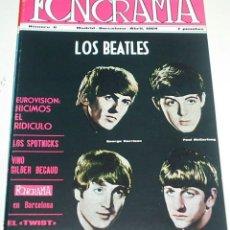 Revistas de música: FONORAMA Nº 6 BEATLES - REEDICION J.L.A. DE LA MITICA REVISTA DE LOS 60 - COMPLETA CON SUS POSTER. Lote 98705355