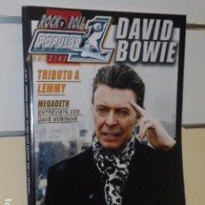 Revistas de música: REVISTA ROCK POPULAR 1 Nº 506 FEBRERO 2016 DAVID BOWIE. Lote 99093007