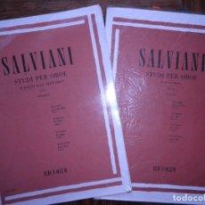 Revistas de música: SALVIANI. STUDI PER OBOE. VOL I Y VOL II. Lote 99465663
