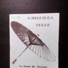 Revistas de música: SOMBRILLA VERDE. Nº 0 FANZINE ORIGINAL. BILBAO PEOR IMPOSIBLE BARCELÓ LAUREN BACALL TUGURIOS.... Lote 99529319