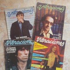 Revistas de música: LOTE 4 REVISTAS VIBRACIONES - AÑOS 70. Lote 100218087