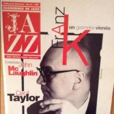 Revistas de música: CUADERNOS DE JAZZ - AÑO IX - Nº 52 (MAYO JUNIO 1999). Lote 100377979