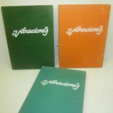 Revistas de música - Lote 3 tomos revista VIBRACIONES, nº 19 a 30 y 55 a 60, con 18 revistas, música, rock, pop años 70 - 100764439