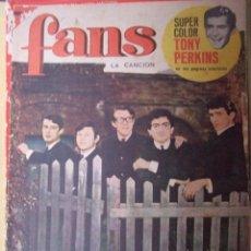 Revistas de música: REVISTA FANS Nº 9 1965 - LOS SIREX , GIGLIOLA CINQUETTI , CLAUDE FRANÇOISE , TONY PERKINS POSTER. Lote 101674543