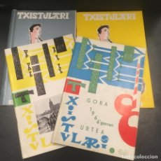Revistas de música: LOTE 4 REVISTAS TXISTULARI.. Lote 103036111