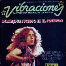 Revistas de música: VIBRACIONES N 14. LED ZEPPELIN.ROBERT WYATT. TODD RUNDGREN. REVISTA. Lote 103204447