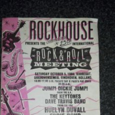 Revistas de música: REVISTA MUSICAL ROCKHOUSE PRESENTACION DE LA CELEBRACION 25TH INTERNACIONAL OCTUBRE DE 1985. Lote 103452367