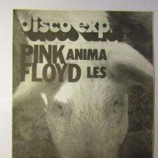 Revistas de música: REVISTA MUSICAL DISCO EXPRES Nº416 4 MARZO 1977 PORTADA PINK FLOID. Lote 103692203