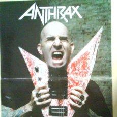 Revistas de música: ANTHRAX JOEY BELLADONNA SCOTT IAN RARO LOTE 2 POSTER + SET REPORTAJES DESDE LOS 90 A 2010. Lote 104431307