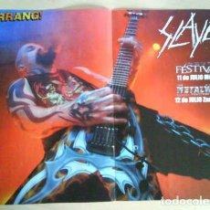 Revistas de música: SLAYER DAVE LOMBARDO TOM ARAYA RARO LOTE 3 POSTER + SET REPORTAJES DESDE LOS 90 A 2010. Lote 104432659