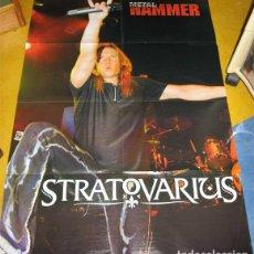 Revistas de música: STRATOVARIUS LOTE DOS POSTER + PEGATINA + SET REPORTAJES DISCOS CONCIERTOS DESDE 90S A 2010. Lote 104449283