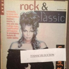 Revistas de música: ROCK & CLASSIC 22-03-95 JANET JACKSON,MARINA ROSSELL, MAYTE MARTIN,O.MONTLLOR,ECHOBELLY,STONES. Lote 105712919