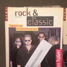 Revistas de música: ROCK & CLASSIC 11-01-95 VAN HALEN,TAHURES ZURDOS,JORDI SABATES,AL·LELUIA RECORDS,LLACH. Lote 105714123