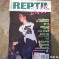 Revistas de música: REPTIL ZINE Nº4 NO FX, PULLERMANN , ALICE DONUT, BUDELLAM, NECROFILS..... Lote 105901191