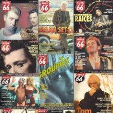 Revistas de música: REVISTA RUTA 66 - AÑO 1999 COMPLETO. 11 NÚMEROS (146 AL 156). Lote 55001264