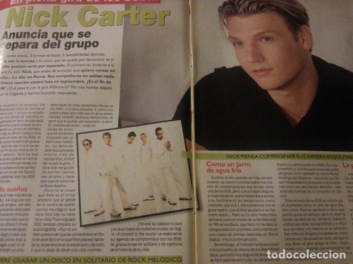 Revistas de música: Backstreet boys (Nick carter) Colección de artículos, reportajes y revista - Foto 22 - 172146552
