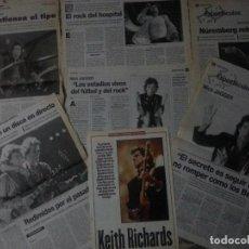 Revistas de música - Rolling Stones (Mick Jagger) colección artículos, reportajes y revista - 106910295