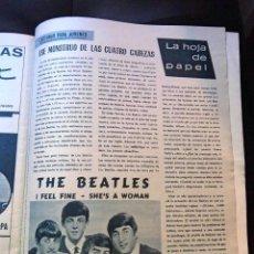 Revistas de música: LOS BEATLES CRITICA DISCO CURIOSIDAD REVISTA FERROVIARIA VIA LIBRE ORIGINAL AÑO 1966 ESPAÑA NUEVA. Lote 108046499