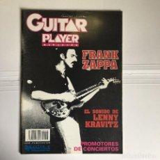 Revistas de música: REVISTA GUITAR PLAYER - FRANK ZAPPA - LENNY KRAVITZ Nº 28. Lote 253082320