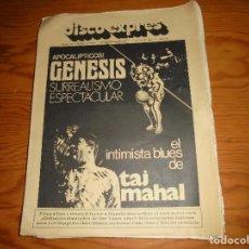 Revistas de música: DISCO EXPRES Nº 318, 28 MARZO 1975. GENESIS, TAJ MAHAL, TUBULAR BELLS. Lote 108785767