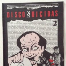 Revistas de música: DISCOS SUICIDAS BOLENTIN 2. Lote 109085451