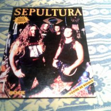 Revistas de música: LIBRO COLECCION IMAGENES DEL ROCK ,SEPULTURA EDITORIAL LA MASCARA 1994 ,64 PAGINAS ILUSTRADO. Lote 109302519