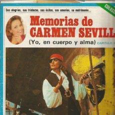Revistas de música: CARMEN SEVILLA 13 FASCICULOS DE LAS MEMORIAS PUBLICADAS POR LA REVISTA SEMANA.... Lote 109318771