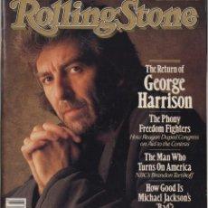 Revistas de música: ROLLING STONE #511 1987 GEORGE HARRISON BEATLES MICHAEL JACKSON USA MAGAZINE REVISTA. Lote 109358927