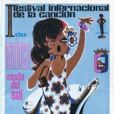 Revistas de música: I FESTIVAL INTERNACIONAL DE LA CANCION DE MALAGA (COSTA DEL SOL) AÑO 1968. Lote 109866935