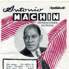 Revistas de música: ANTONIO MACHIN ' GRABACIONES EN BOGA ' - - CANCIONERO 195, NUMERO EXTRAORDINARIO. Lote 109874267