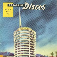 Revistas de música: REVISTA BRASILEÑA ' PARADA DE DISCOS ' -- AÑO 1 - Nº 12 ( MAIO 1956 ). Lote 109877331