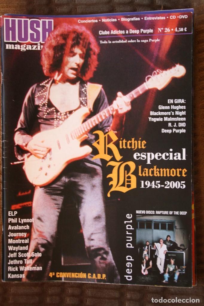 HUSH MAGAZINE Nº 26. RITCHIE BLACKMORE, DEEP PURPLE (Música - Revistas, Manuales y Cursos)