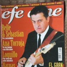 Revistas de música: EFE EME Nº 19. LOQUILLO, GRAN WYOMING, ANA TORROJA, VARGAS BLUES BAND, BELLE & SEBASTIAN, MIKEL EREN. Lote 110060559