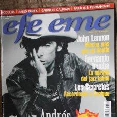 Revistas de música: EFE EME Nº 23. CALAMARO, JOHN LENNON, LOS SECRETOS, GABINETE GALIGARI, PARALISIS PERMANENTE, MODULOS. Lote 110060579