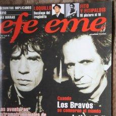 Revistas de música: EFE EME Nº 33. ROLLING STONES, LOQUILO, FITO Y FITIPALDIS, JETHRO TULL, LOS BRAVOS, MAS BIRRAS. Lote 110060667