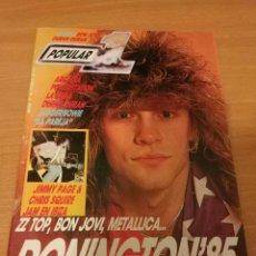 Revistas de música: REVISTA POPULAR 1 NUMERO 148 OCTUBRE 85 1985 - DONINGTON 85 ZZTOP BON JOVI METALLICA ARCADIA. Lote 110063075