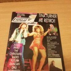 Revistas de música: REVISTA POPULAR 1 NUMERO 180 JUNIO 88 1988 - TINA TURNER JUDAS PRIEST RADIO FUTURA MORRISEY RUSH. Lote 110067535
