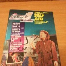 Revistas de música: REVISTA POPULAR 1 NUMERO 157 JULIO 86 1986 - BONO U2 EN PORTADA . ROCK N ROLL MAGAZINE. Lote 110070043