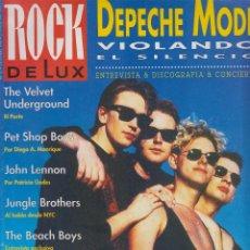 Revistas de música: REVISTA ROCK DE LUX 70 - 1990 DEPECHE MODE PET SHOP BOYS GATO PÉREZ PERET VELVET UNDERGROUND. Lote 110680427