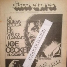 Revistas de música: DISCO EXPRES 190 (22-09-72): JOE COCKER,FRAMPTON,ELTON JOHN,RORY GALLAGHER,PERE TAPIAS,HARRISON. Lote 110960155